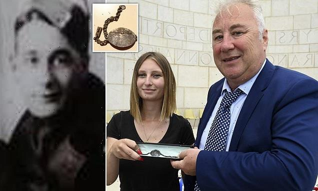 Murdered RAF bombardier's family are reunited with his bracelet