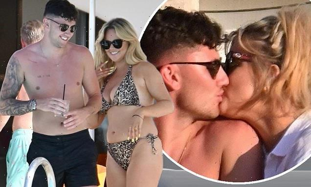 PICTURE EXCLUSIVE: Emily Atack shares steamy kiss with tattooed hunk
