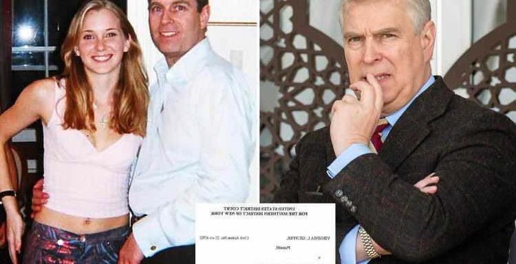 Prince Andrew's lawyers 'claim Virginia Roberts sex assault papers NOT properly served and he'll get case thrown out'