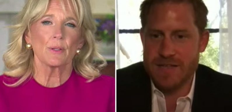 Prince Harry tells of 'dark places' and hard recovery for wounded veterans at Warrior Games event with Jill Biden