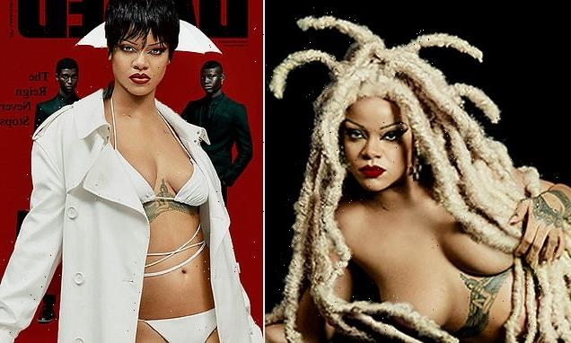 Rihanna goes blonde and poses NAKED for avant garde shoot