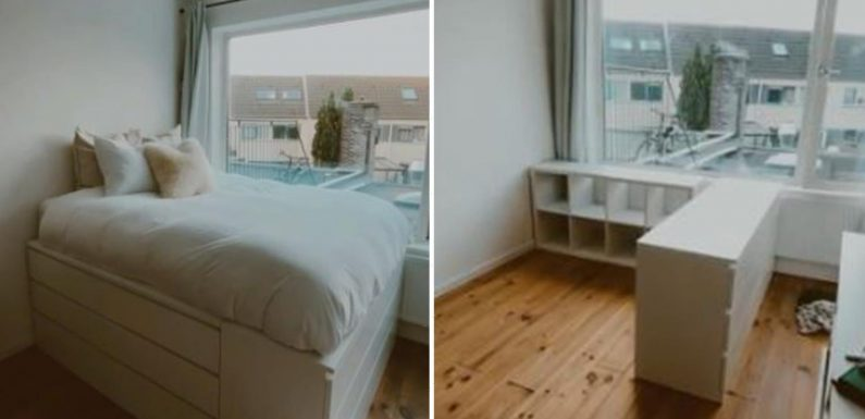 Woman makes bed out of Ikea DRAWERS to give herself more room – and it looks amazing