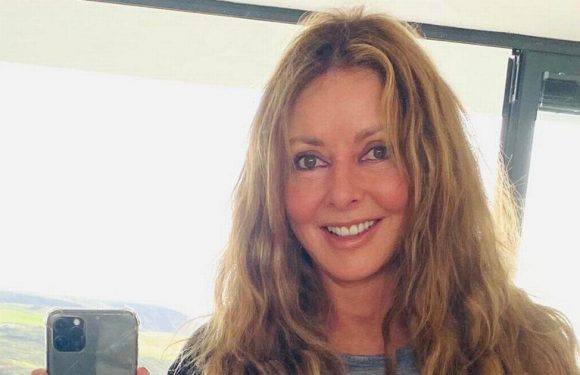 Carol Vorderman pours age-defying curves into tight leggings and matching top