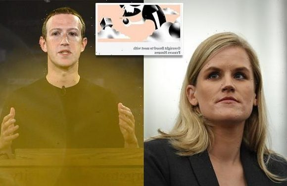 Facebook's Oversight Board will meet with whistleblower Frances Haugen