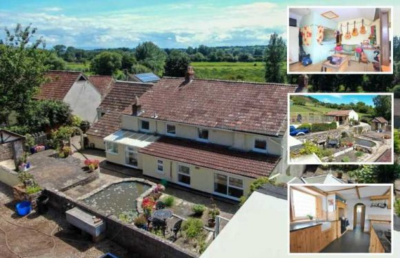 Five-bed home with stables and separate cottage in Somerset on sale for £1million but the garden will leave you blushing