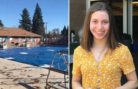 Girl, 14, drowned under pool cover during swimming practice when teammates & coach failed to notice she was missing