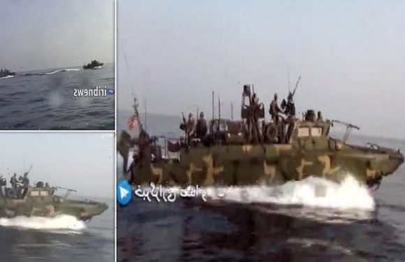 Iranian state TV releases footage of troops 'chasing US Navy in Gulf'