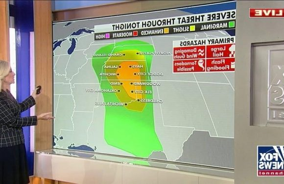 More severe weather forecast for Plains, snow across Rockies