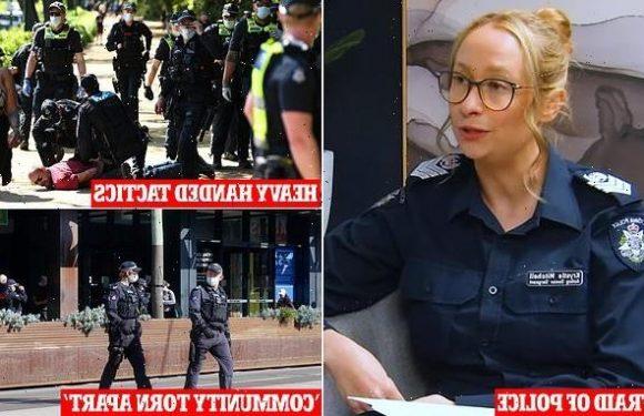 Senior Victoria police slams heavy policing in her state
