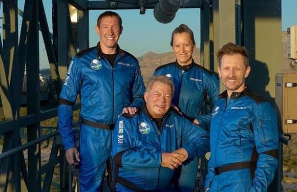 William Shatner and crew to launch 62 miles above Earth on Blue Origin